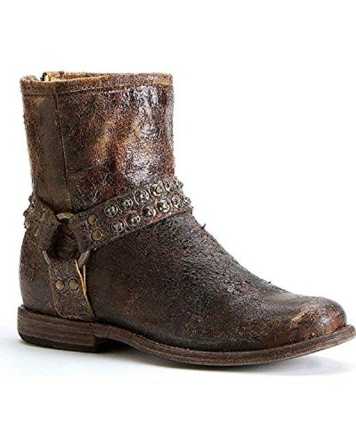 Frye - Brown Phillip Studded Harness Boot - Lyst