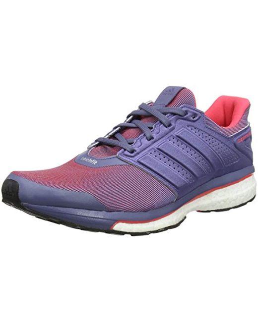 the best attitude 68eef 190a6 Adidas - Purple Supernova Glide 8, Chaussures de Running Compétition Femme  - Lyst ...