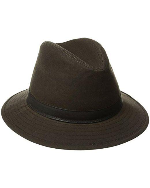 Woolrich - Brown Wax Cotton Safari Hat for Men - Lyst