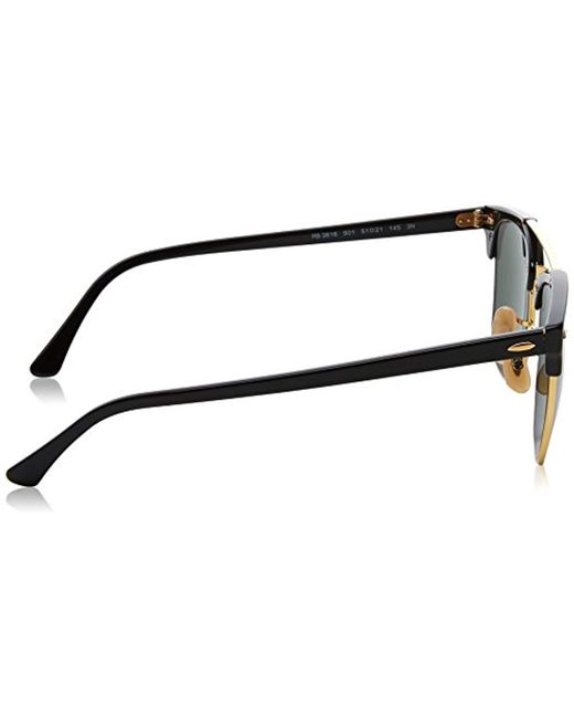 6a14aee3eb ... Ray-Ban - Clubmaster Double Bridge Sunglasses In Black Rb3816 901 51 -  Lyst ...