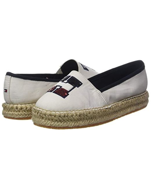 d249c76d98934f Tommy Hilfiger Th Sequins Espadrille in White - Lyst