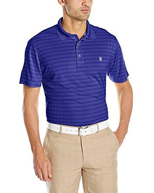 Izod - Blue Short Sleeve Pieced Jacquard Golf Polo for Men - Lyst