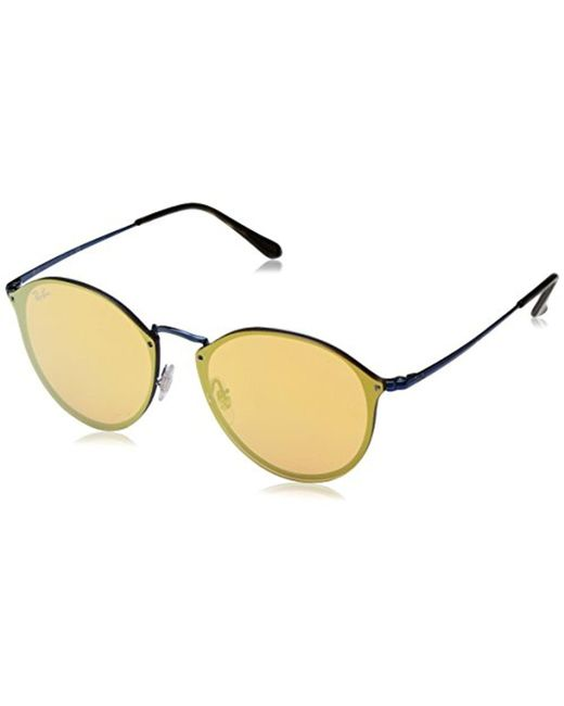 Ray-Ban - Blue Unisex Rb3574n Round Sunglasses for Men - Lyst