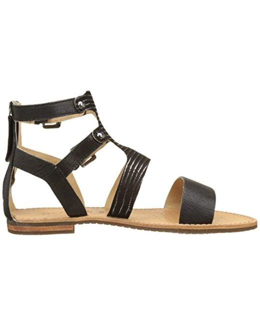 wide varieties super cute reasonable price Geox D Sozy G Gladiator Sandals in Black - Lyst
