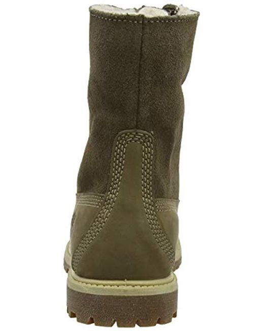 best place great look authorized site Timberland Teddy Fleece Fold-down Waterproof Boot in Taupe ...