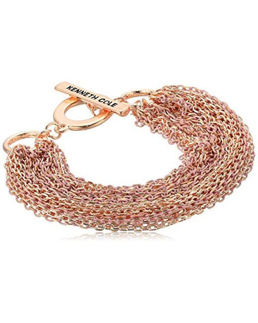 Kenneth Cole - Multicolor Multi Chain Bracelet, Blush, One Size - Lyst