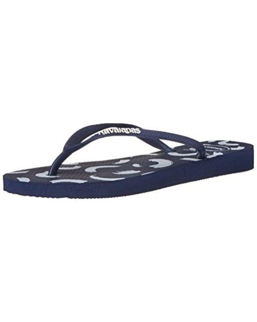Havaianas - Blue Slim Swirl Flip Flops - Lyst