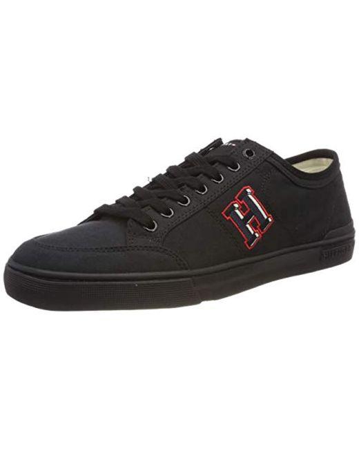 Tommy Hilfiger Black Core Corporate Seasonal Sneaker Low-top for men