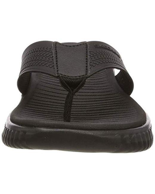 0478f2b6a4d3 ... Skechers - Black Elite Flex-coastal Mist Flip Flops for Men - Lyst ...