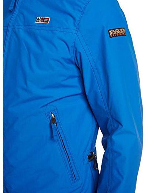 ba430956cd Shelter Homme Coloris Bleu Blouson Lyst Pour En Napapijri qaEP6d
