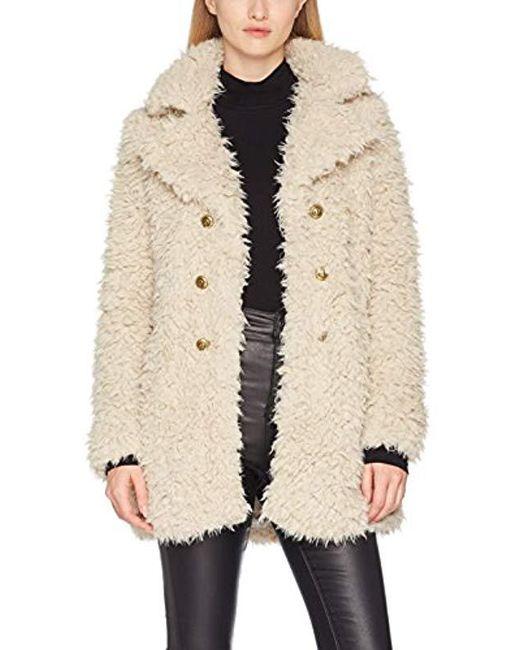 Vero Moda - Natural Vmelnora Jayla Fake Fur Jacket Coat - Lyst