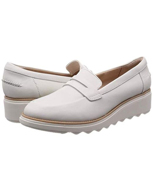 cd1c5aff4b3 Clarks Sharon Ranch Loafers in White - Save 15% - Lyst
