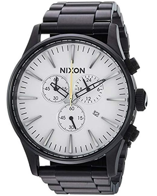 Nixon - Multicolor 'sentry Chrono' Quartz Stainless Steel Casual Watch, Color:black (model: A386756) - Lyst