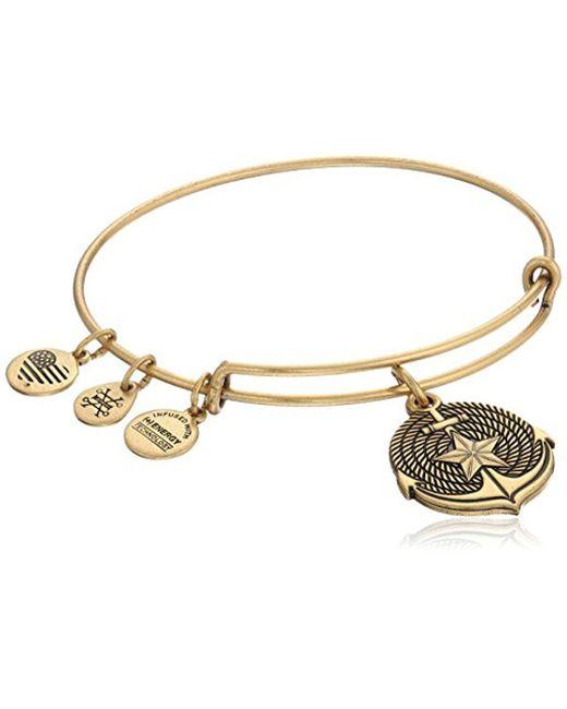 ALEX AND ANI - Metallic Anchor Ii Ewb Bangle Bracelet - Lyst