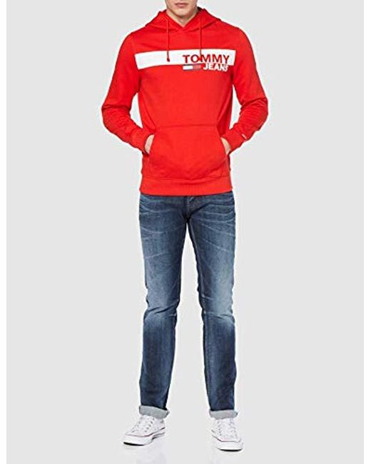 b021e0d2 ... Lyst Tommy Hilfiger - Red 's Tjm Essential Graphic Hoodie for Men ...