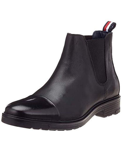 heißer verkauf rabatt begehrte Auswahl an Kundschaft zuerst Herren Elevated Material Mix Chelsea Boots in schwarz