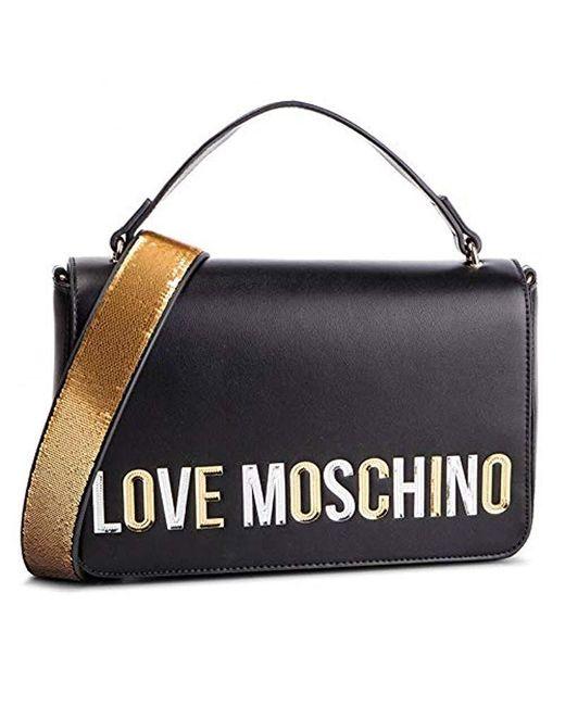 6aeea1f0afbc Love Moschino - Black Borsa Pu Top-handle Bag - Lyst ...