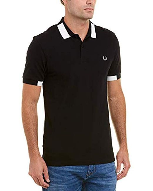 67258f65d ... Fred Perry - Green Block Tipped Pique Shirt for Men - Lyst