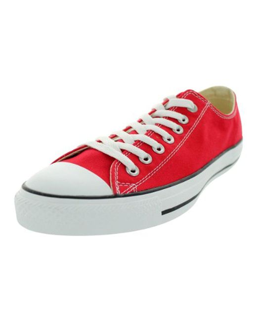 77c5afabc851 Lyst - Converse Chuck Taylor All Star Ox Sheenwash Trainers in Red ...