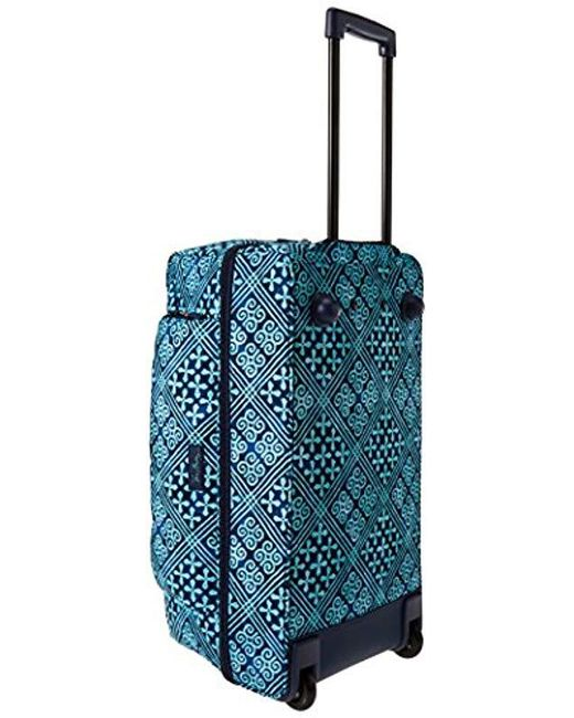 ... Vera Bradley - Blue Lighten Up Large Wheeled Duffel, Polyester - Lyst  ... 3c3a625b81