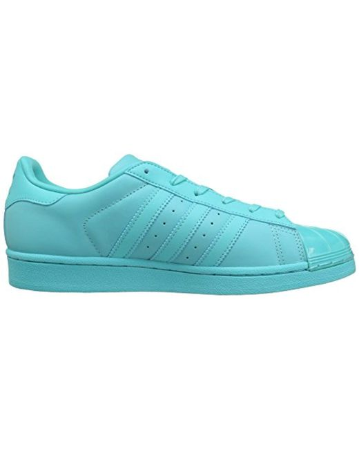 best sneakers f120c b32c3 ... Adidas Originals - Blue Superstar Glossy Toe Fashion Running Shoe - Lyst  ...