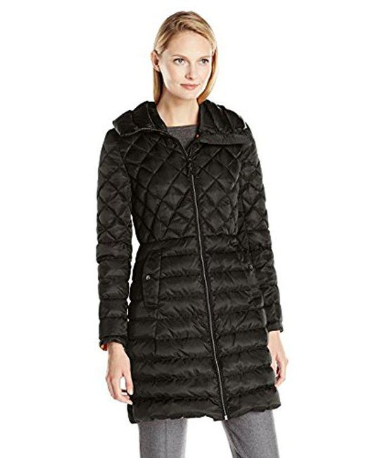 Vince Camuto - Black Lightweight Down Coat - Lyst