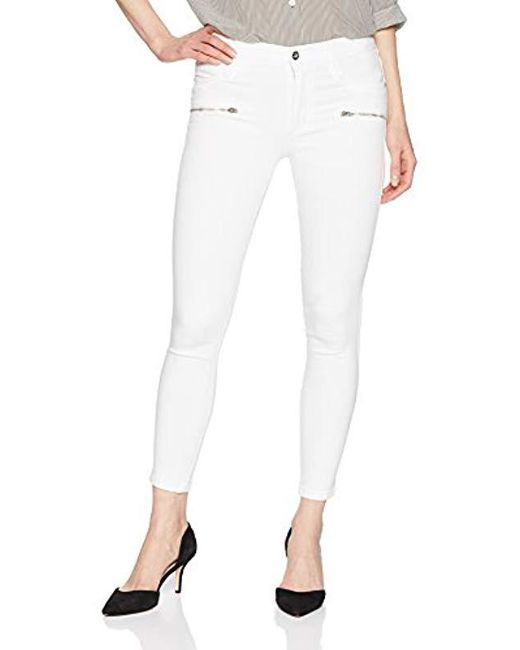 James Jeans - J Twiggy Front Zip Ankle Legging Jean In White Clean - Lyst