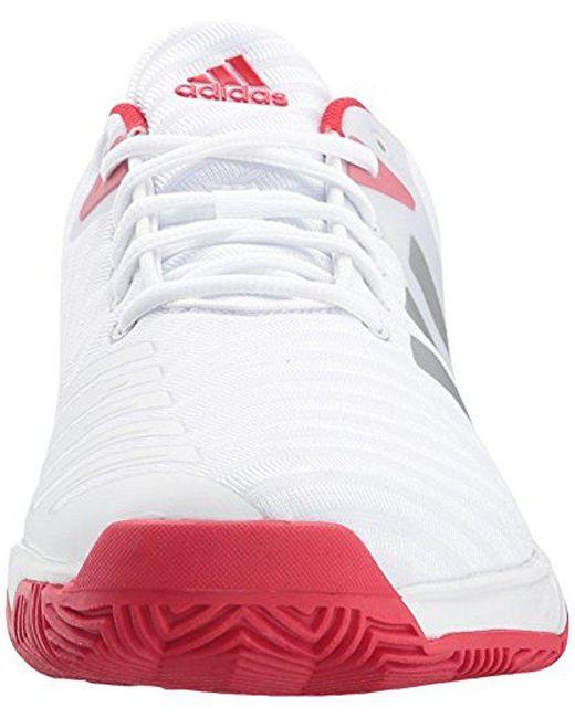 lyst adidas barricata corte 3 scarpa da tennis in bianco per gli uomini.