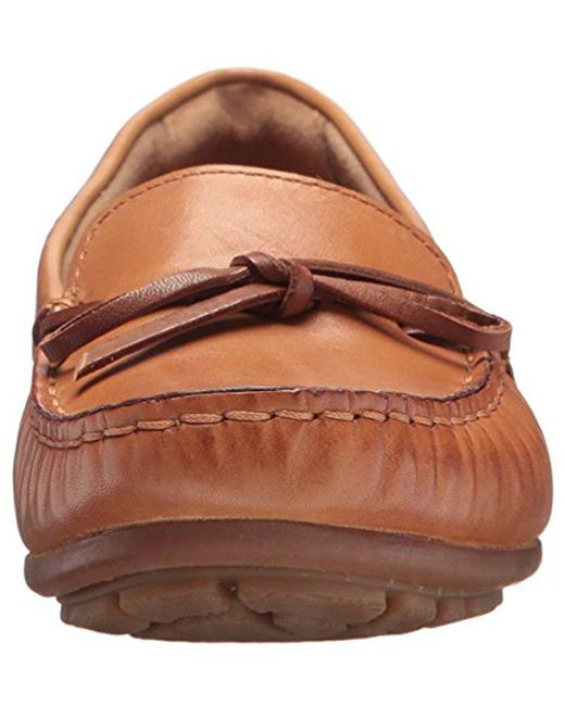 ed19f0e5c8f clarks brown dameo swing driving style loafer lyst with swing sthle leder