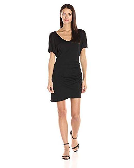 Susana Monaco - Black V Neck Dress - Lyst
