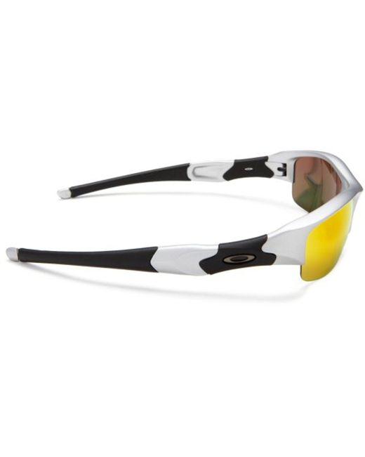 1afce38b6b ... Oakley - Multicolor Flak Jacket Iridium Sunglasses for Men - Lyst ...