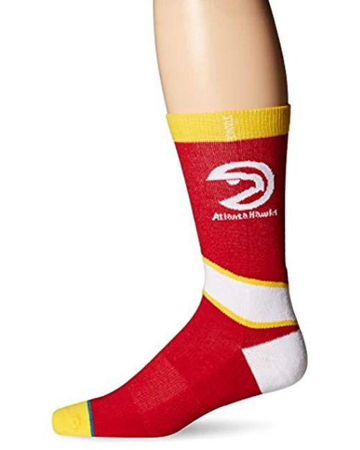 Stance - Red Nba Hardwood Crew Socks for Men - Lyst