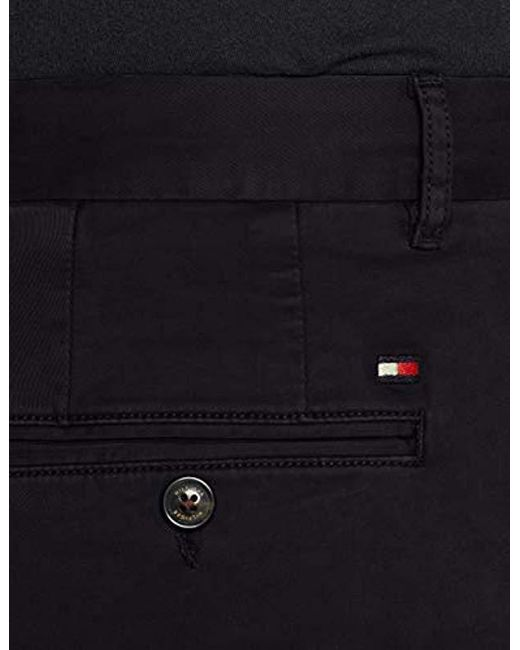ad183f1c285d1 ... Tommy Hilfiger - Black Straight Denton Chino Gmd Flex Trouser for Men -  Lyst ...
