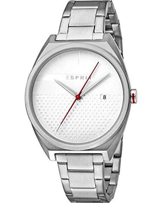 979578ca8dec Esprit - Multicolor Reloj Analógico para Hombre de Cuarzo con Correa en  Acero Inoxidable ES1G056M0055 for