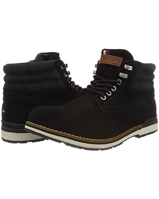 389f0c345fe8 Tommy Hilfiger  s Outdoor Suede Boot Combat in Black for Men - Lyst