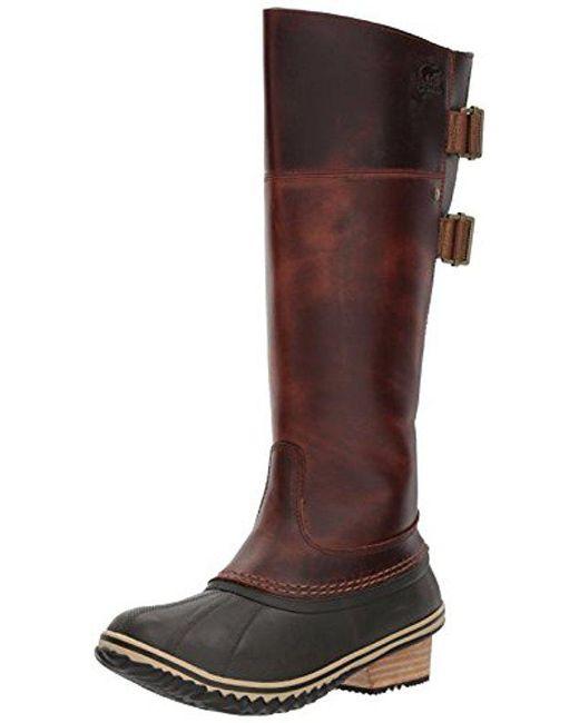 Sorel - Brown Slimpack Riding Tall Ii Snow Boot - Lyst