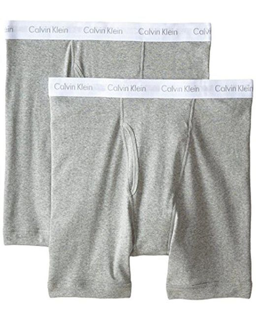 CALVIN KLEIN 205W39NYC - Gray Big And Tall Cotton Classics 2 Pack Boxer Briefs for Men - Lyst
