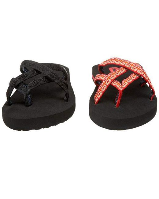 7e286a6a54282 ... Teva - Black Olowahu Set Of Two Pairs Of Flip-flops - Lyst ...