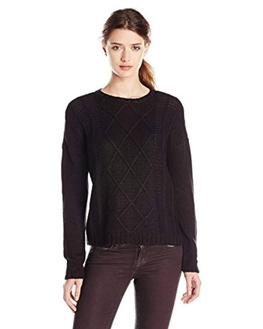 Buffalo David Bitton - Black Bullette Sequin Elbow Patch Pullover Sweater - Lyst