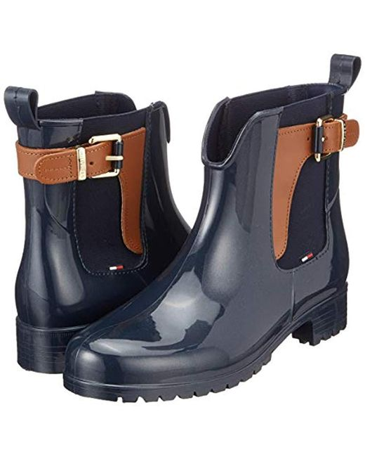 new style eeaa7 94994 Tommy Hilfiger O1285xley 2z2 Slouch Boots in Blue - Save 23 ...