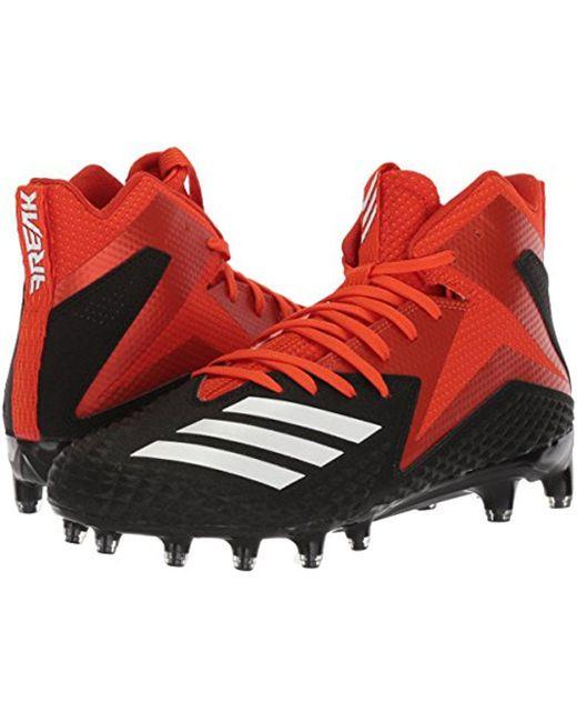 Men's Freak X Carbon Mid Football Shoe Core Black/White/Collegiate Orange 7.5 M US