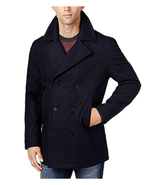 Nautica - Blue Big And Tall Wool Peacoat for Men - Lyst