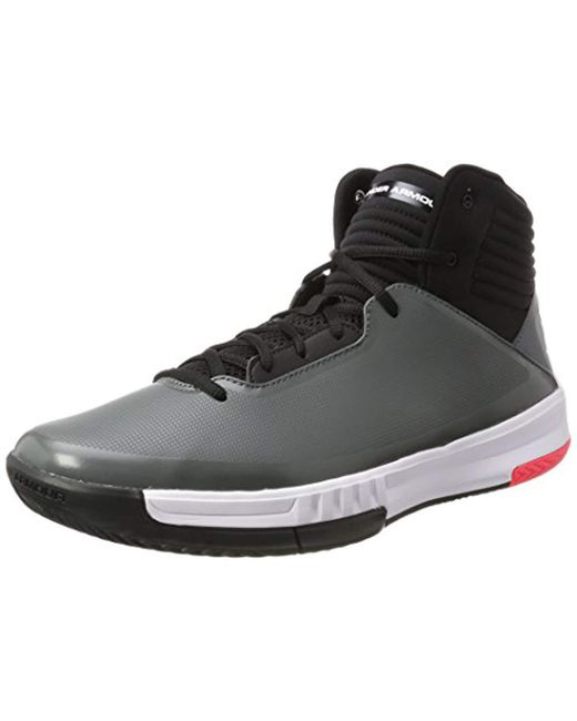 afeed459d734 Under Armour - Black  s Ua Lockdown 2 Basketball Shoes for Men - Lyst ...