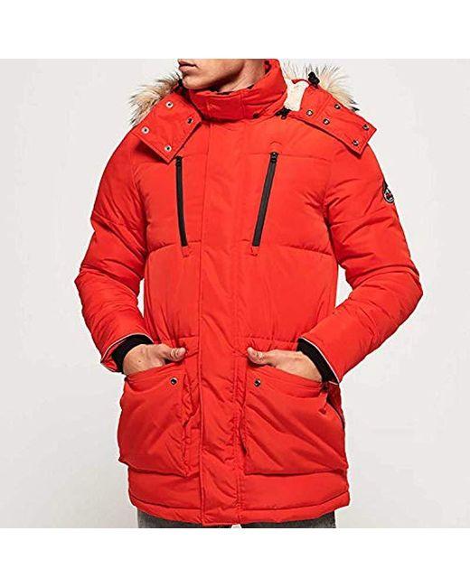Superdry Jacke Herren Everest Bomber Bold Orange