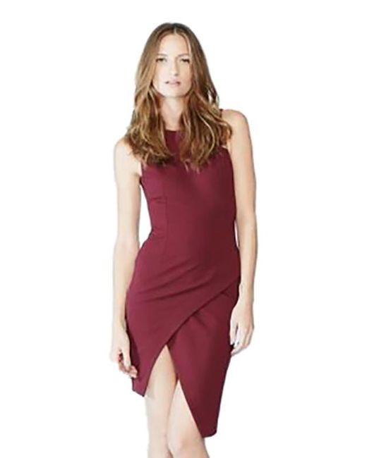 Blaque Label | Purple Knit Overlay Dress In Wine | Lyst