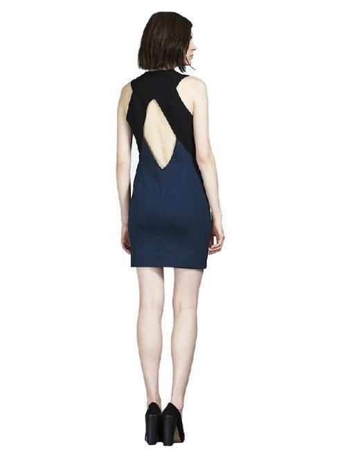 Cut25 by Yigal Azrouël | Blue By Yigal Azrouel Scuba Zipper Front Dress | Lyst