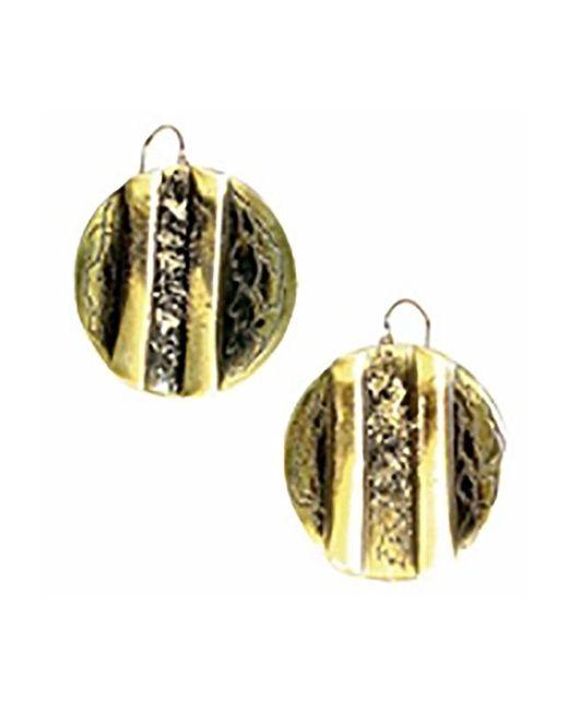 Sibilla G Jewelry | Metallic Sibilla G Oxidized Brass Circle Earrings | Lyst
