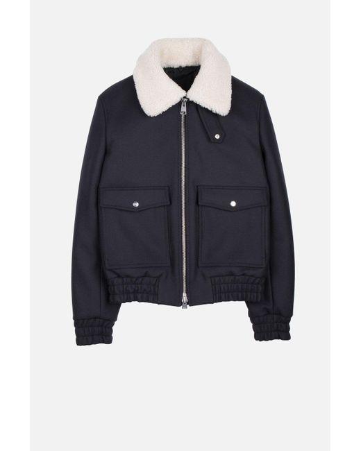 AMI | Blue Zipped Jacket for Men | Lyst