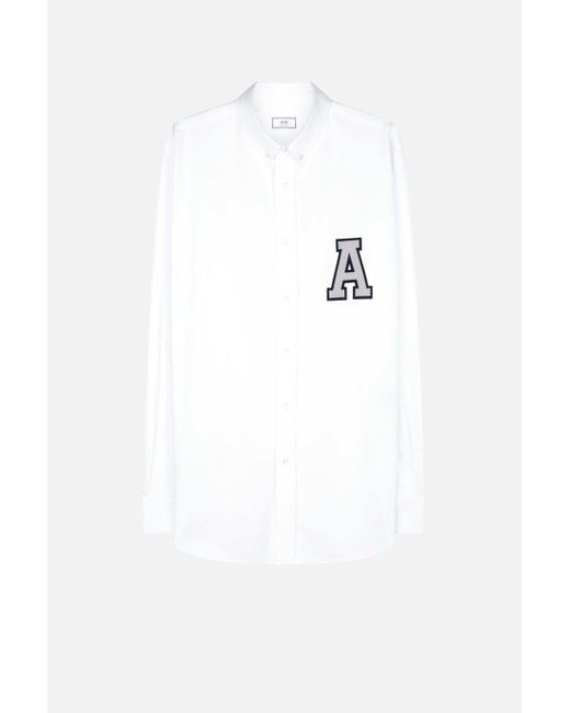AMI | White A Patch Shirt for Men | Lyst