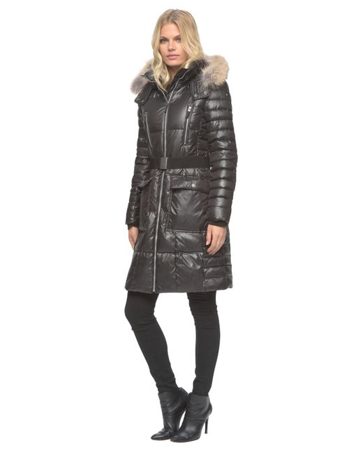 Marc New York | Black Adrianne Quilted Parka Jacket  | Lyst
